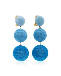 Rebecca de Ravenel - Blue M'o Exclusive Ombre Three Drop Clip Earrings - Lyst