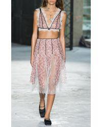 Giambattista Valli - Pink Floral Embroidered Skirt - Lyst