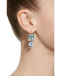 Renee Lewis - Blue 18k White Gold, Synthetic Sapphire And Aquamarine Earrings - Lyst