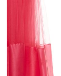 Costarellos - Pink Silk Organza And Tulle Gown - Lyst