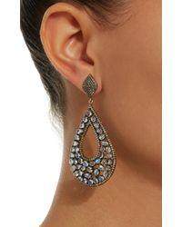 Sanjay Kasliwal - Metallic 14k Gold, Silver, Moonstone And Diamond Earrings - Lyst