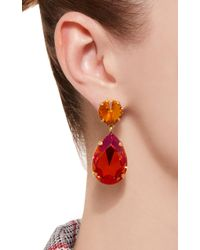 Roxanne Assoulin - Pink Hip Hop But Not Gold-plated Swarovski Crystal Clip Earrings - Lyst