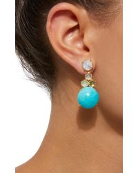 Daria de Koning - Blue Czarina 18k Gold Multi-stone Drop Earrings - Lyst