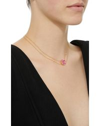 Renee Lewis - 18k Gold Pink Topaz Necklace - Lyst
