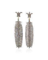 Sanjay Kasliwal - Black 14k Gold And Silver Diamond Earrings - Lyst
