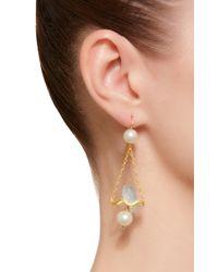 Marie-hélène De Taillac - White One-of-a-kind Aquamarine Renaissance Fish Earrings - Lyst