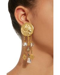 Lulu Frost | Metallic M'o Exclusive Vintage Crystal And Star Bead Earrings | Lyst
