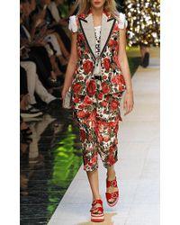 Dolce & Gabbana   Metallic Beaded Cross Pendant Necklace   Lyst
