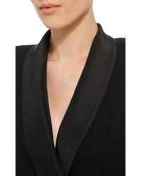 Suzanne Kalan | Metallic Yellow Gold Black Diamond Triangle Necklace | Lyst