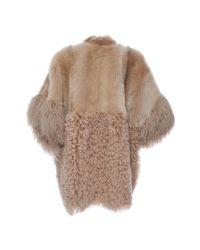 Agnona - Multicolor Fur Block Zip Poncho - Lyst