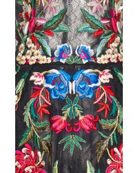 Zuhair Murad | Black Multicolor Embroidered Mini Dress | Lyst