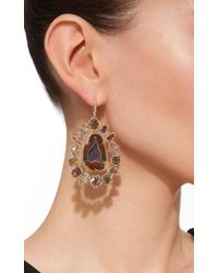 Kimberly Mcdonald | Blue Geode And Diamond Slice Earrings | Lyst