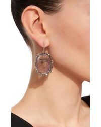 Kimberly Mcdonald - Sapphire And Irregular Natural Brown Diamond Earrings - Lyst