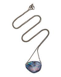 Kimberly Mcdonald - Pink Boulder Opal Pendant With Sapphire Bezel - Lyst