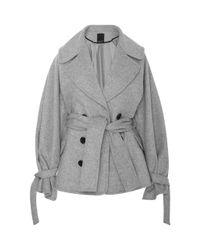 Marissa Webb | Gray Fischer Wool Coat | Lyst
