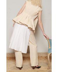 Rosie Assoulin - White Button Front Obi Blouse - Lyst