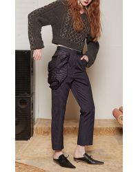 Rosie Assoulin - Gray Grandma Elanor's Swarovski Blanket Sweater - Lyst