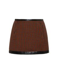 Philosophy Di Lorenzo Serafini - Brown Pied De Poule Mini Skirt - Lyst
