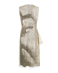 Maison Margiela | Multicolor Flocked Tulle Sheath Dress | Lyst