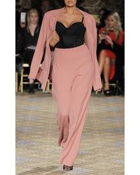 Christian Siriano - Pink High Waisted Trousers - Lyst