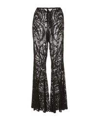 Anna Sui | Black Lace Bell Bottom Pant | Lyst