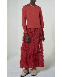 Shrimps | Ellan Red Drop Waist Dress | Lyst