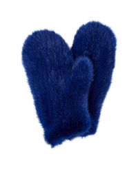 Pologeorgis | Blue Mink Mittens | Lyst
