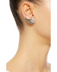 Mallarino - Green Camelia Earrings - Lyst