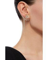 Hueb - Metallic Labyrinth 18k Yellow Gold And Diamond Earrings - Lyst