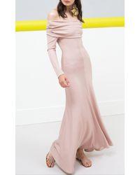 Maria Lucia Hohan - Pink Edelira Off-the-shoulder Jersey Dress - Lyst