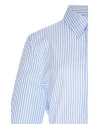 Tuinch - Blue Open Back Ruffle Shirt - Lyst
