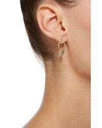 Zoe Chicco | Metallic Pear Shaped Gemfields Emerald And Diamond Earrings | Lyst