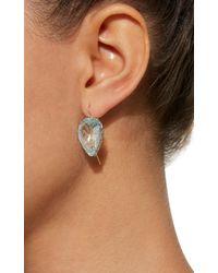 Renee Lewis   White Antique Aquamarine Teardrop Earrings   Lyst