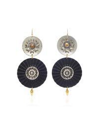 Lulu Frost   Black M'o Exclusive Vintage Steel Button Earrings   Lyst