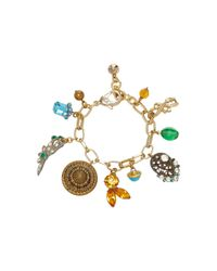 Lulu Frost | Metallic M'o Exclusive Vintage Victorian Button And Crystal Charm Bracelet | Lyst