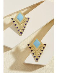 Mata Traders | Metallic The Echo Of Deco Earrings | Lyst