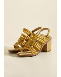 ModCloth - Multicolor Heel Me Out Sandal In Sunflower - Lyst