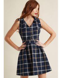 ModCloth | Blue Patio Presence Cotton A-line Dress | Lyst