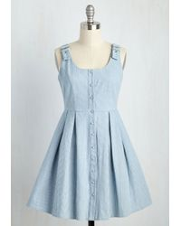 She + Sky - Blue Good Potluck! Dress In Light Wash - Lyst