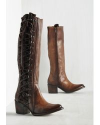 Freebird by Steven - Brown Genre Queen Leather Boot - Lyst