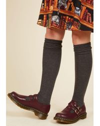 Dr. Martens | Red Hop, Skip, And A Punk Leather Flat In Oxblood for Men | Lyst