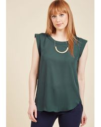 Sweet Rain - Green Go Through The Promotions Top - Lyst
