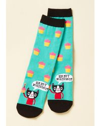 Sock It To Me | Blue Time To Purr-ty Socks | Lyst