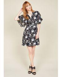 Esley - Black Food District Date Floral Dress - Lyst