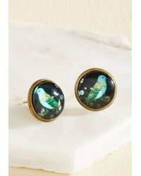 Beijo Brasil - Green Tweet Talk Earrings - Lyst