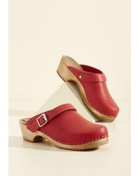 MIA - Red Artist In Resonance Leather Clog - Lyst
