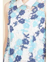 ModCloth - Blue Unrivaled Arrival Shift Dress - Lyst