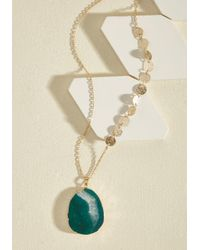 ModCloth - Soul Goals Necklace In Green - Lyst