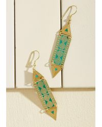 ModCloth | Metallic Mata Traders Impressive Accent Earrings | Lyst