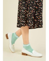 ModCloth | Green Frill And Grace Socks In Mint | Lyst